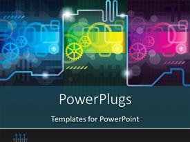 PowerPlugs: PowerPoint template with abstract futuristic industrial concept, with dark colors
