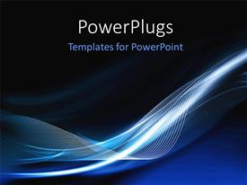 PowerPlugs: PowerPoint template with abstract futuristic modern background with waves