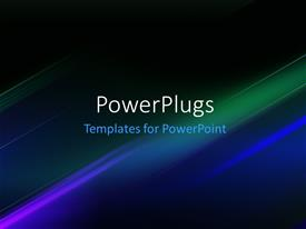 PowerPlugs: PowerPoint template with abstract Futuristic Technology Stripes Background with Light