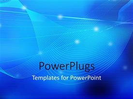 PowerPlugs: PowerPoint template with a bluish background with a palce for text
