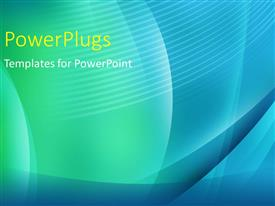 PowerPlugs: PowerPoint template with abstract green and blue curves with stripes