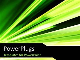 PowerPlugs: PowerPoint template with abstract green color motion
