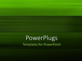PowerPlugs: PowerPoint template with abstract green colored stripes background