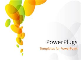 PowerPlugs: PowerPoint template with abstract green and orange ovals on white background