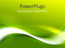 PowerPlugs: PowerPoint template with abstract green pattern for design with waves