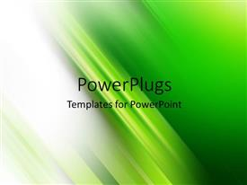 PowerPlugs: PowerPoint template with abstract green and white with chartreuse stripes in center