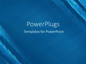 PowerPlugs: PowerPoint template with an abstract illustration of a plane blue surface with some strokes