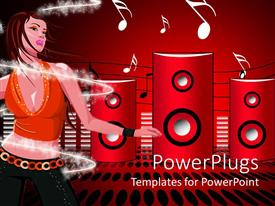 PowerPlugs: PowerPoint template with an abstract of a lady dancing to a music