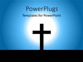 PowerPlugs: PowerPoint template with an abstract of a light lit on a cross