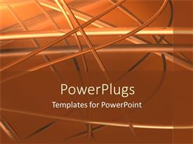 PowerPlugs: PowerPoint template with abstract metal works on orange background