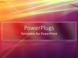 PowerPlugs: PowerPoint template with abstract mix of colors with yellow red pink and purple lines