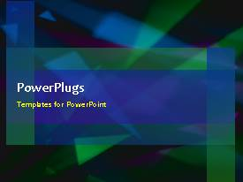 PowerPlugs: PowerPoint template with abstract mixed shape triangle green blue purple moving background