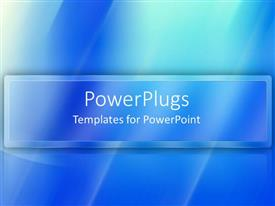 PowerPlugs: PowerPoint template with abstract monochrome blue patterns suggesting water or glass