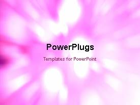 PowerPlugs: PowerPoint template with abstract motion flare