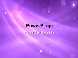 PowerPlugs: PowerPoint template with abstract moving particles with nice flare