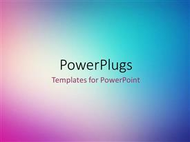 PowerPoint template displaying abstract multi color shades