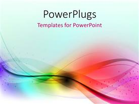 PowerPlugs: PowerPoint template with abstract multi color waves with blue color