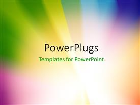 PowerPlugs: PowerPoint template with abstract multicolored sunburst or starburst rays of versicolor light with zoom effect