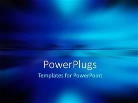 PowerPlugs: PowerPoint template with abstract natural blur background with sky and ocean water surface divided by the horizon line