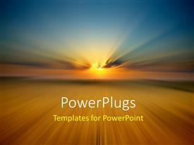 PowerPlugs: PowerPoint template with abstract nature background with radial blur effect