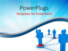 PowerPlugs: PowerPoint template with lots of people standing and interlinked to each other.