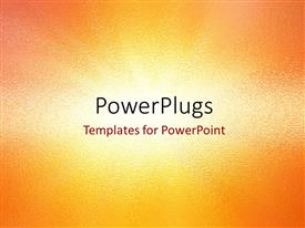 PowerPoint template displaying abstract noisy colored sandstone background in orange