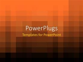 PowerPlugs: PowerPoint template with an abstract of a plain brown and black colored background