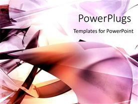 PowerPlugs: PowerPoint template with abstract purple and red shapes on white background