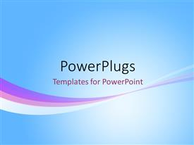 PowerPlugs: PowerPoint template with abstract rainbow wave line on a blue background