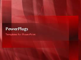 PowerPlugs: PowerPoint template with abstract red colored circular waves with dark red