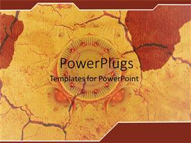 PowerPlugs: PowerPoint template with abstract red and yellow with cracks