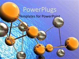 PowerPlugs: PowerPoint template with a number of compounds with water in background