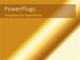 PowerPoint template displaying abstract shiny golden stripes glowing background
