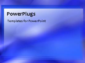 PowerPlugs: PowerPoint template with abstract smooth rays in motion, with blue color