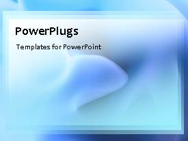 PowerPlugs: PowerPoint template with abstract smudge effect in motion, with blue color