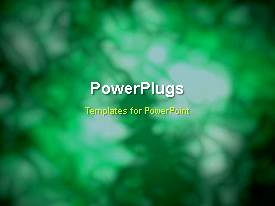PowerPoint template displaying abstract smudgy movement with green color