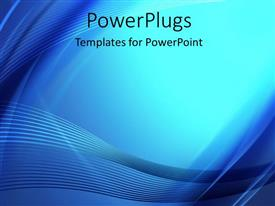 PowerPlugs: PowerPoint template with abstract teal and blue curved lines