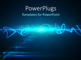PowerPlugs: PowerPoint template with abstract technology concept with black color