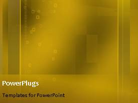 PowerPlugs: PowerPoint template with abstract technology gold square shaped moving lines and squares background