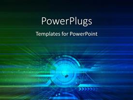 PowerPoint template displaying abstract technology theme, with different colors