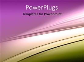 PowerPoint template displaying abstract vector curve with multiple colors