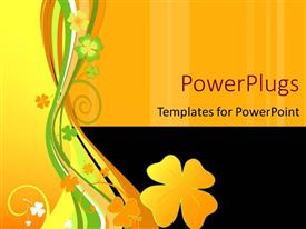 PowerPoint template displaying abstract vector floral design