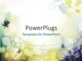 PowerPlugs: PowerPoint template with abstract vector floral shapes