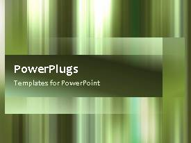 PowerPlugs: PowerPoint template with an abstract video template of green gradient stripes moving in and out