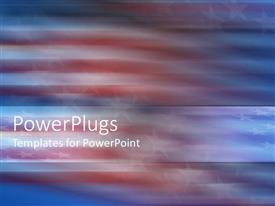 PowerPoint template displaying abstract view of American flag with swirling depiction of stars
