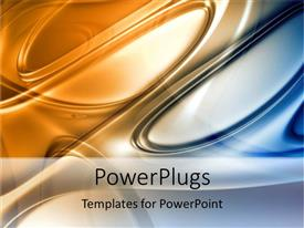 PowerPlugs: PowerPoint template with an abstract view of circular images in gold and blue