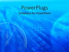 PowerPlugs: PowerPoint template with abstract view of some figures, a stop watch and a globe