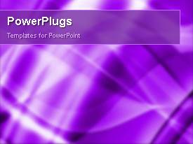 PowerPlugs: PowerPoint template with an abstract view of lots of bright white and purple lines