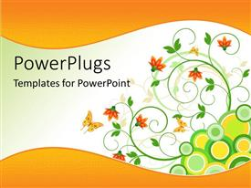 PowerPoint template displaying abstract view of lots of flowery designs on a white background