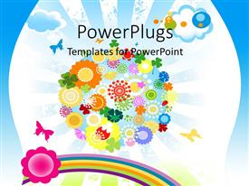 PowerPlugs: PowerPoint template with an abstract view of many multi colored flowery images